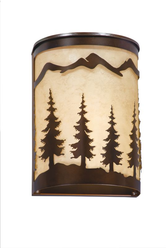 Vaxcel Lighting W0047 Yosemite 1 Light Wall Sconce Burnished Bronze