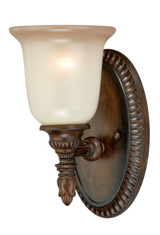 Vaxcel Lighting W0126 Parkhurst 1 Light Vanity Light Aged Walnut Sale $120.00 ITEM: bci2628352 ID#:W0126 UPC: 884656733259 :