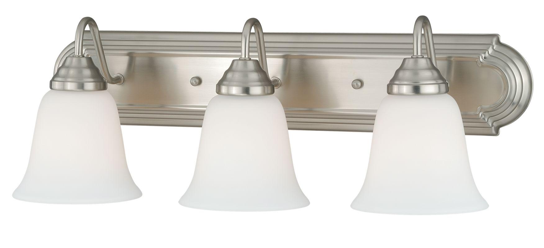 Vaxcel Lighting W0134 708 Series 3 Light Vanity Light Satin Nickel