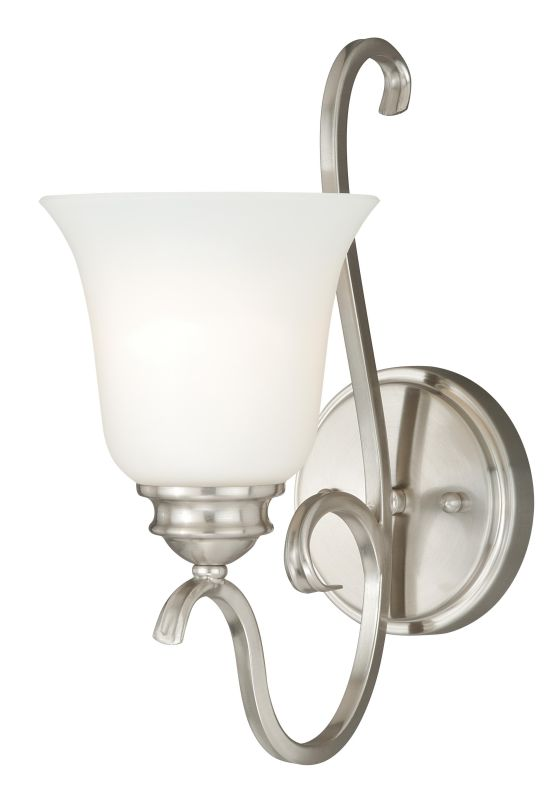 Vaxcel Lighting W0160 Hartford 1 Light Vanity Light Satin Nickel