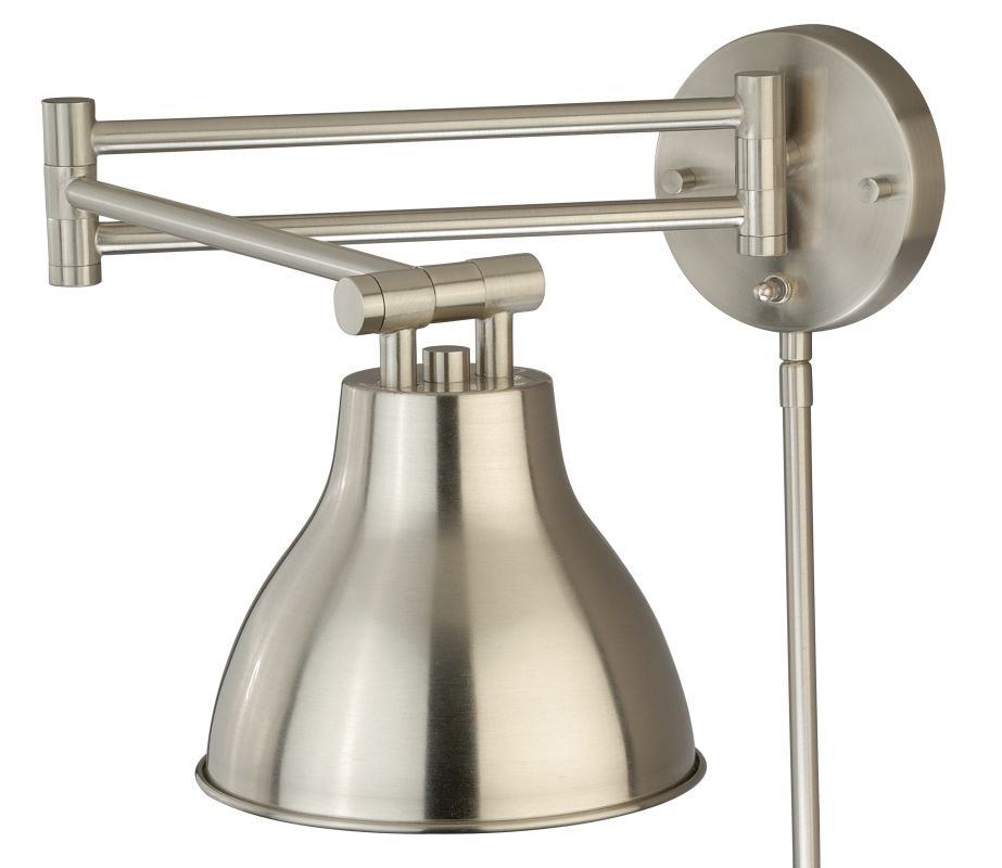 Vaxcel Lighting W0175 Swing Arm LED Wall Sconce Satin Nickel Indoor Sale $175.00 ITEM: bci2628401 ID#:W0175 UPC: 884656735000 :