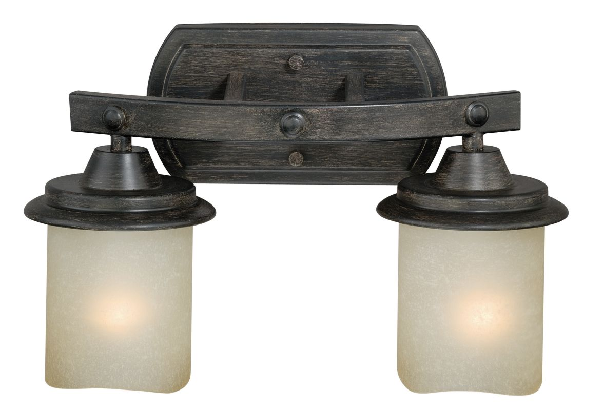 Vaxcel Lighting W0182 Halifax 2 Light Wall Sconce with Cylinder Shaped