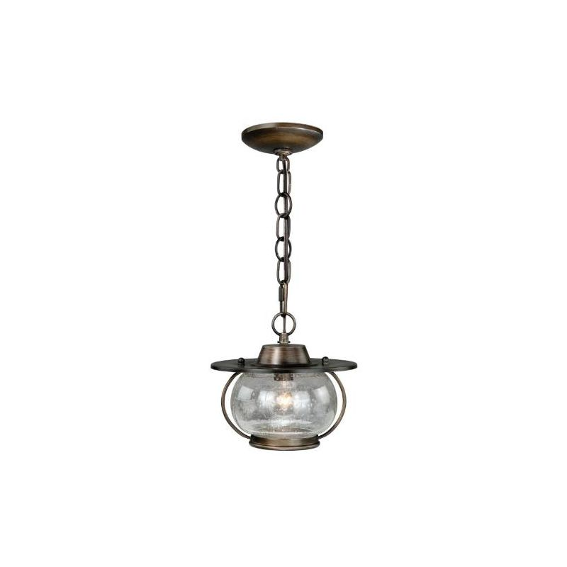 Vaxcel Lighting P0007 Jamestown 1 Light Mini Pendant Parisian Bronze