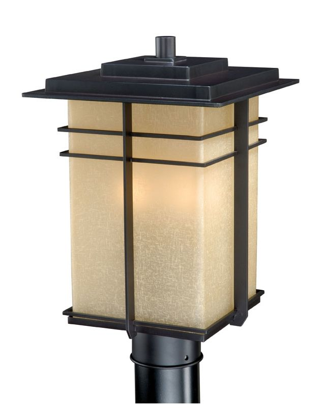 Vaxcel Lighting AB-OPU090 Ashbee 3 Light Outdoor Post Light Noble