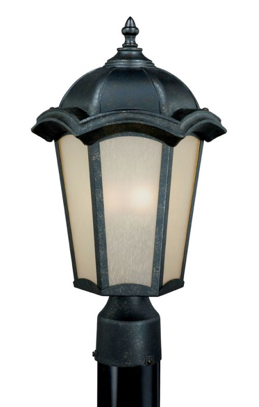 Vaxcel Lighting CE-OPU090 Chloe 3 Light Outdoor Post Light Gold Stone