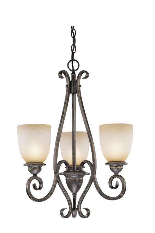 Vaxcel Lighting ES-CH35903 Mont Blanc 3 Light Single Tier Chandelier - Sale $250.00 ITEM: bci1816992 ID#:ES-CH35903AZ/B UPC: 884656700022 :