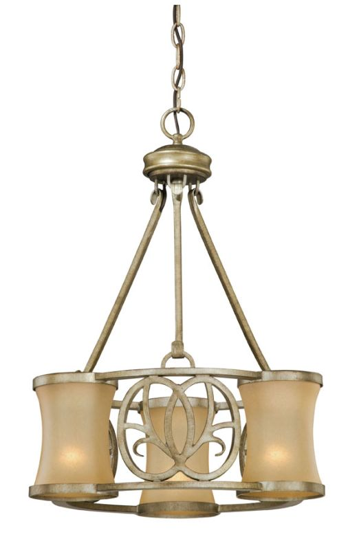 Vaxcel Lighting NB-CHD003 Newbury 3 Light Single Tier Chandelier with