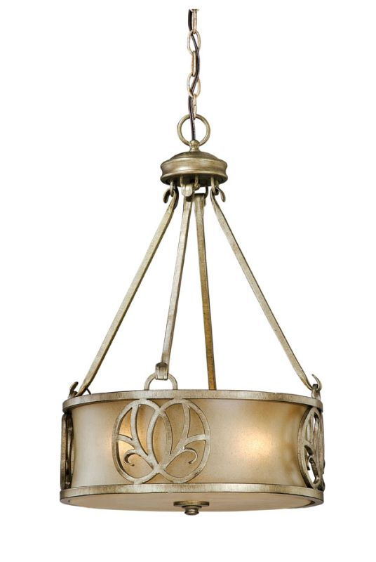 Vaxcel Lighting NB-PDU150 Newbury 3 Light 15&quote Foyer Pendant Venetian