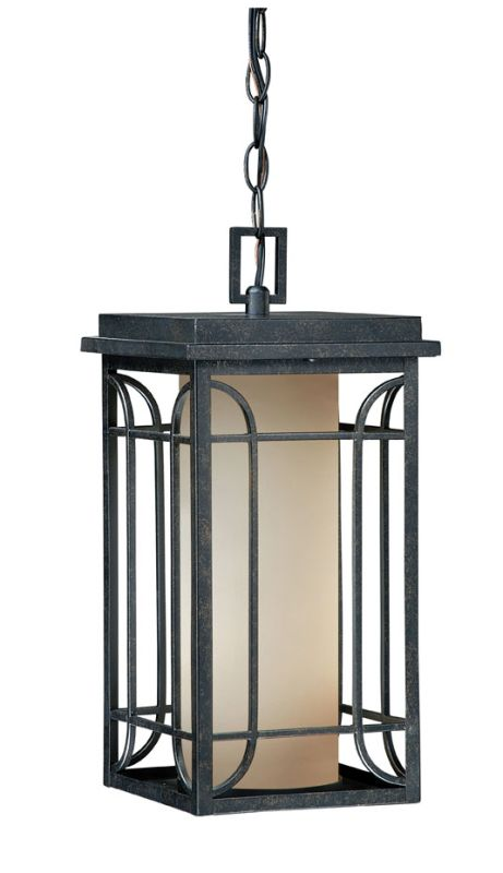"Vaxcel Lighting NP-ODD080 Newport 1 Light 16.625"" Outdoor Pendant Gold"