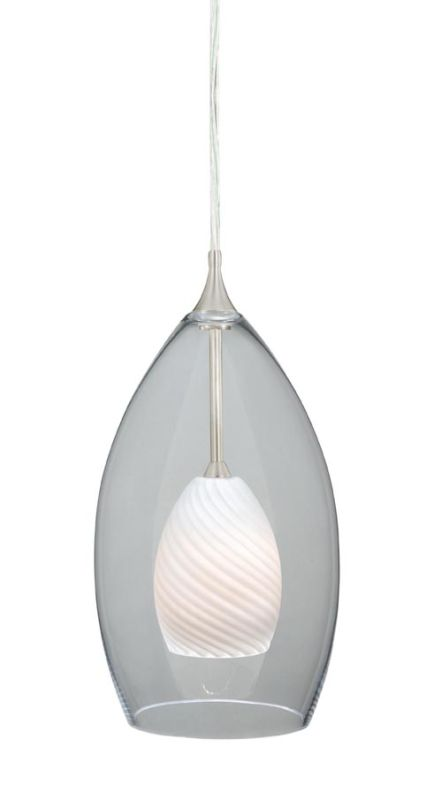 Vaxcel Lighting PD57104SN Satin Nickel Contemporary Milano Pendant