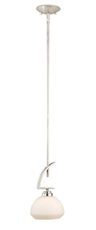 "Vaxcel Lighting SA-PDD070 Solna 3 Light 7"" Mini Pendant Satin Nickel"