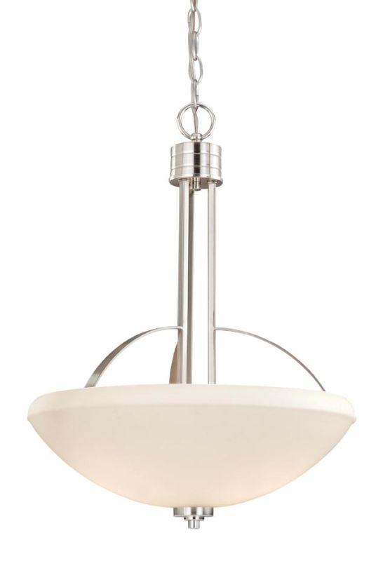 "Vaxcel Lighting SA-PDU170 Solna 3 Light 17"" Foyer Pendant Satin Nickel"
