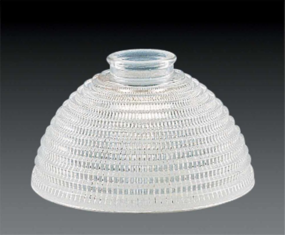 "Volume Lighting GS-104 Glass Bath Room 4"" Height Clear Ribbed Glass"