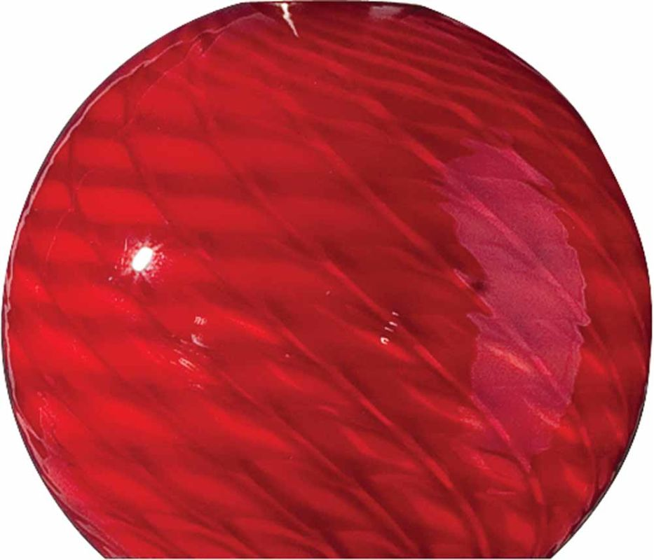 "Volume Lighting GS-443 3.25"" Height Red Frit Glass Globe Shade Red"