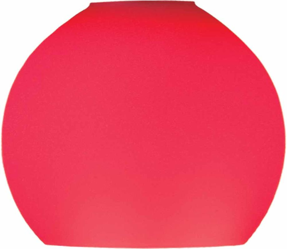 "Volume Lighting GS-444-4 Pack of 4 - 3.25"" Height Red Glass Globe"