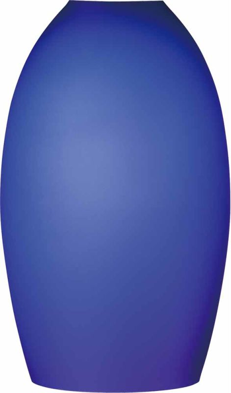 """Volume Lighting GS-546 8.5"""" Height Etched Blue Cased Glass Oval Shade"""