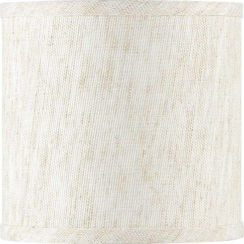 "Volume Lighting V0018 6"" Height Round Shade Ecru Linen Accessory"