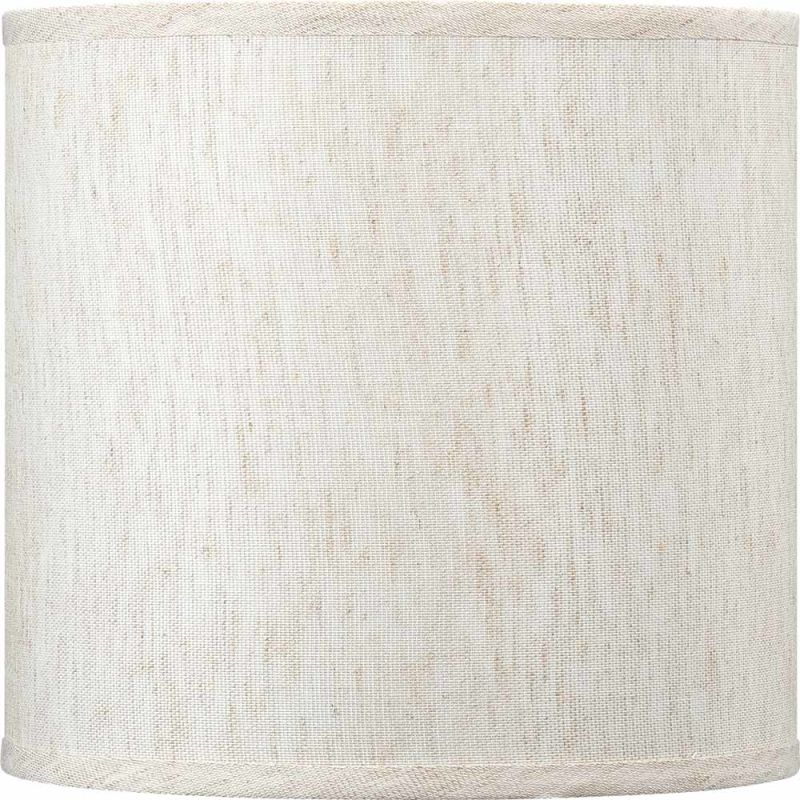 "Volume Lighting V0020 10"" Height Drum Shade Ecru Linen Accessory"