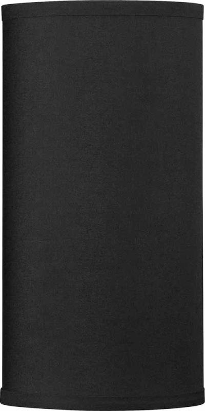 "Volume Lighting V0025 12"" Height Cylindrical Shade Black Accessory"
