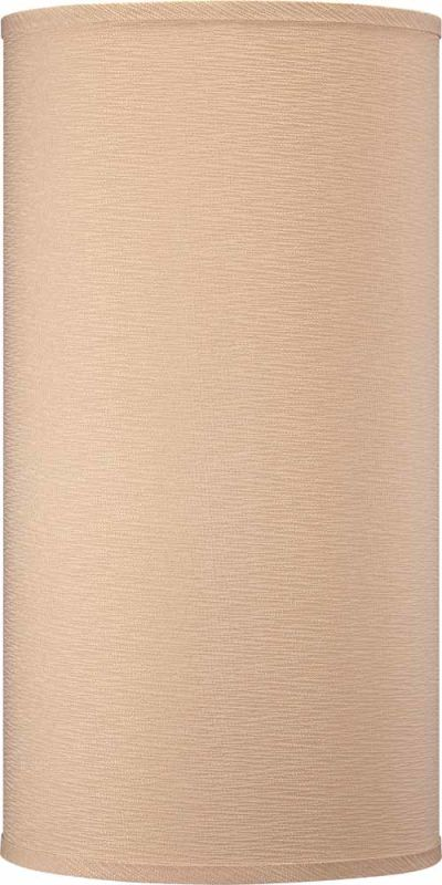 """Volume Lighting V0027 20"""" Height Cylindrical Shade Handcrafted Linen"""