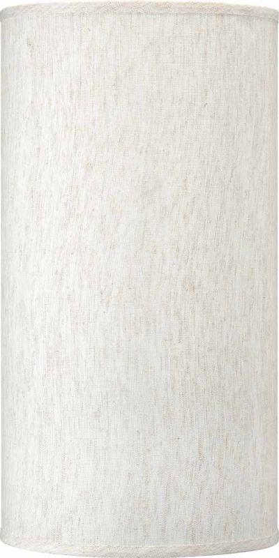 "Volume Lighting V0027 20"" Height Cylindrical Shade Ecru Linen"