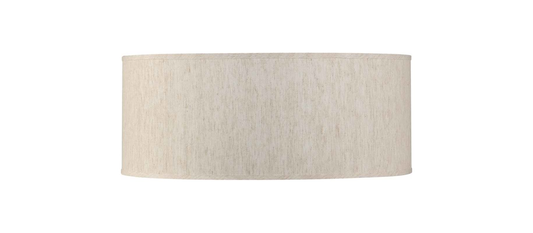 "Volume Lighting V0037 Esprit 7"" Height Drum Shade Ecru Linen Accessory"