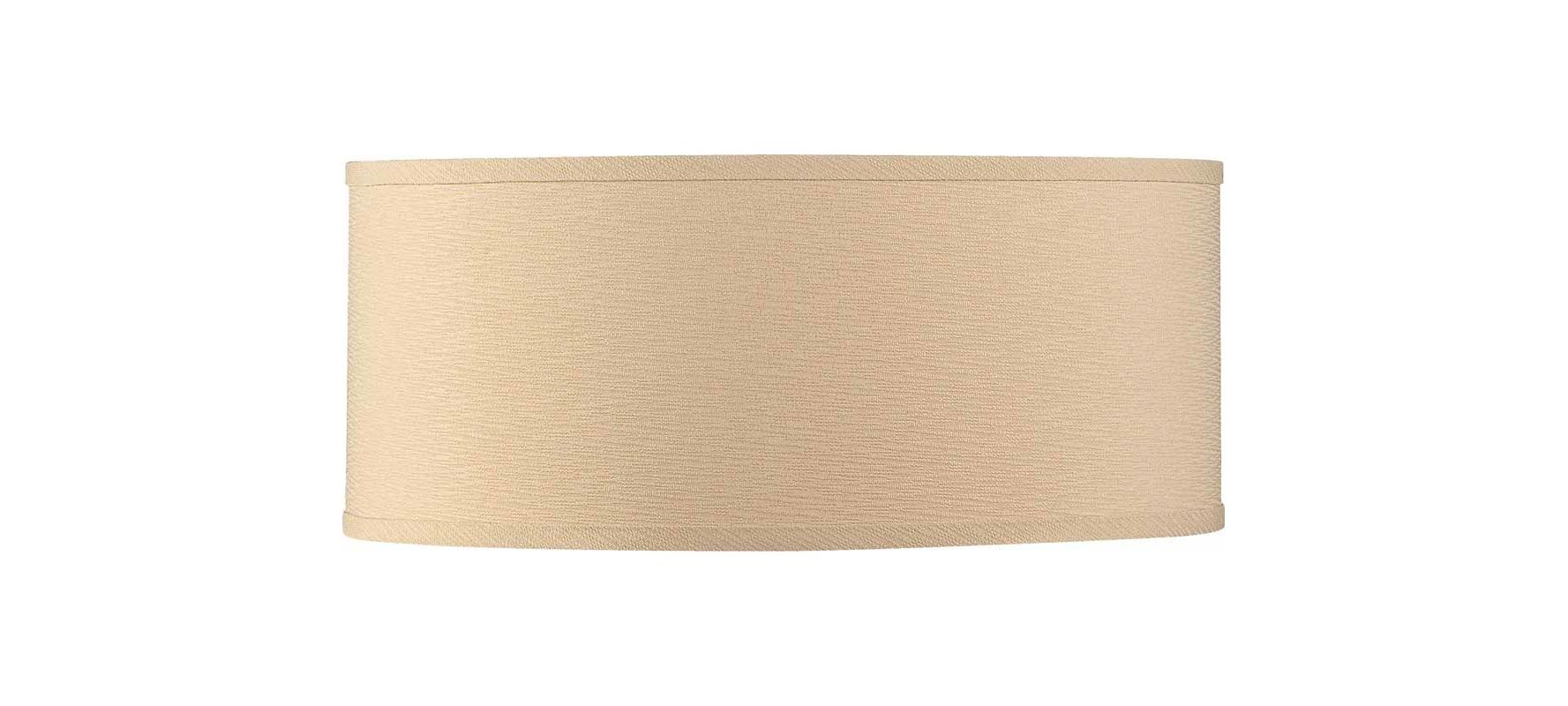 "Volume Lighting V0039 Esprit 9"" Height Drum Shade Handcrafted Linen"