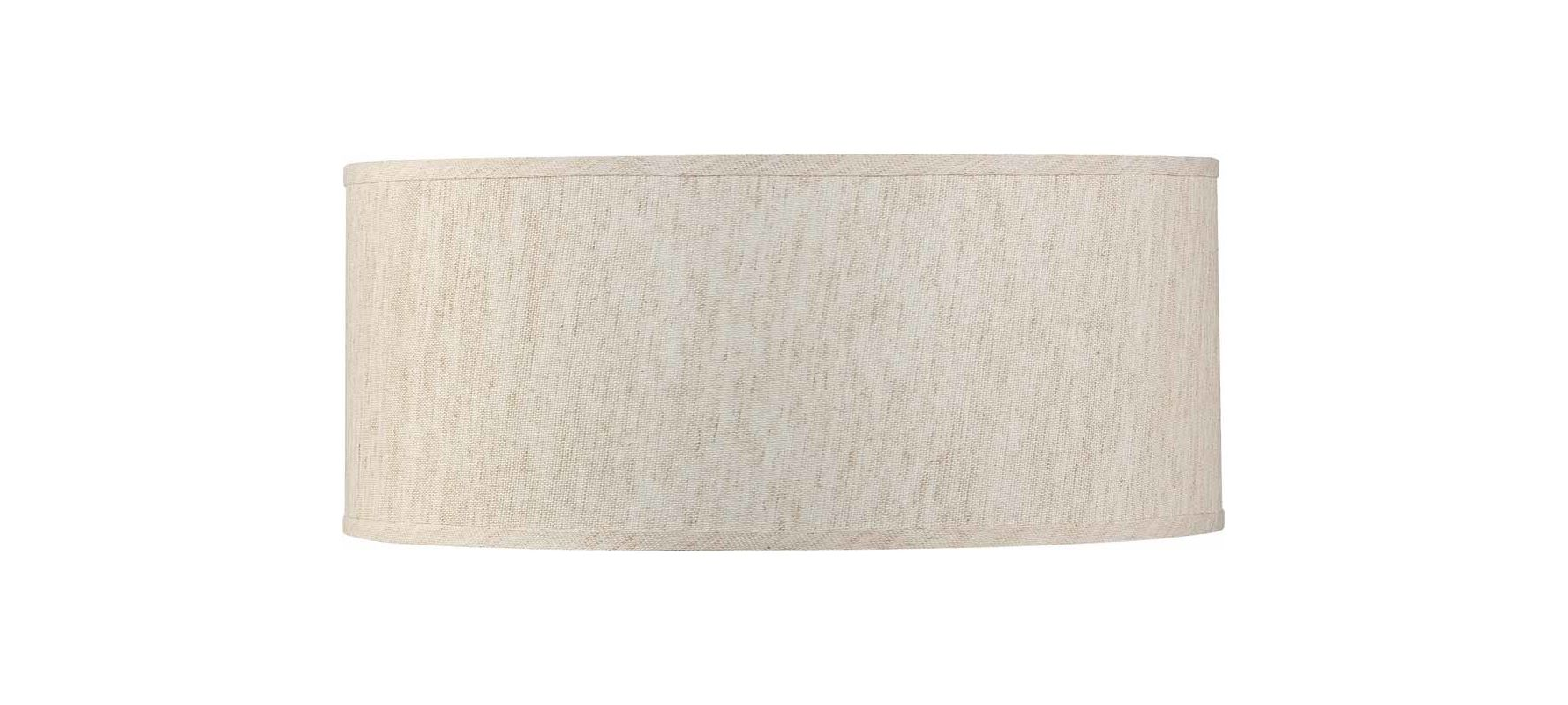 "Volume Lighting V0039 Esprit 9"" Height Drum Shade Ecru Linen Accessory"