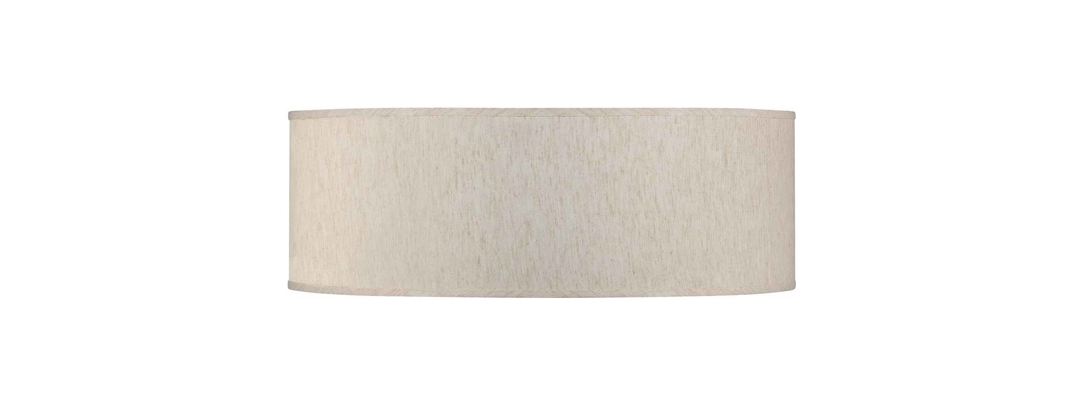 "Volume Lighting V0043 Esprit 24"" Width Drum Shade Ecru Linen Accessory"