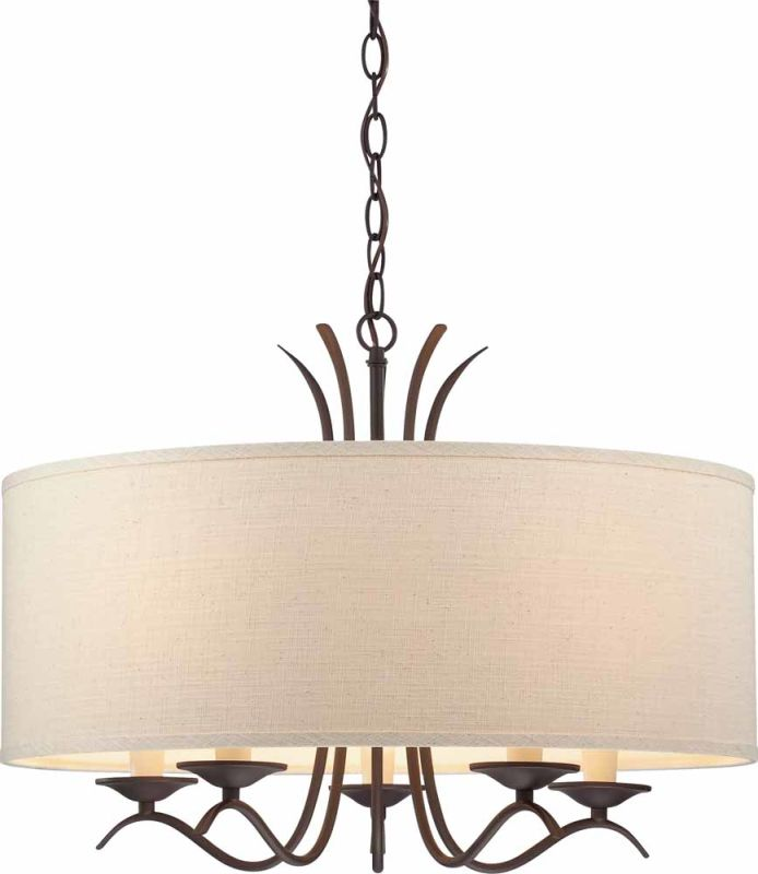 Volume Lighting V0305 Drum Shade Ecru Linen Accessory Shades