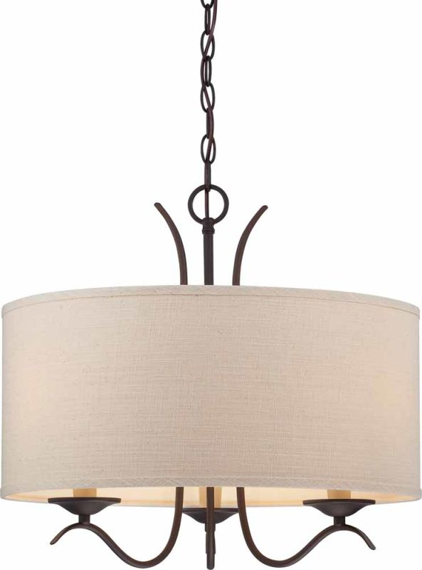 Volume Lighting V0343 Ecru Linen Drum Shade Ecru Linen Accessory