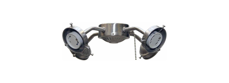 Volume Lighting V0604 2 Light Ceiling Fan Light Kit Brushed Nickel