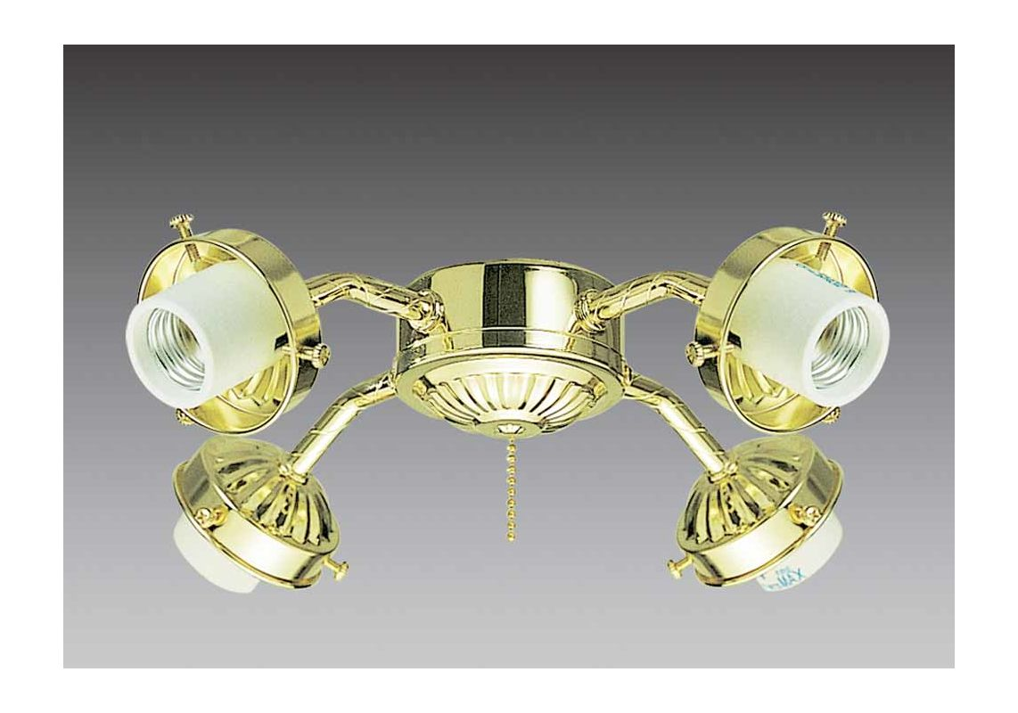 Volume Lighting V0904 4 Light Ceiling Fan Light Kit Polished Brass Sale $24.00 ITEM: bci2148011 ID#:V0904-2 :