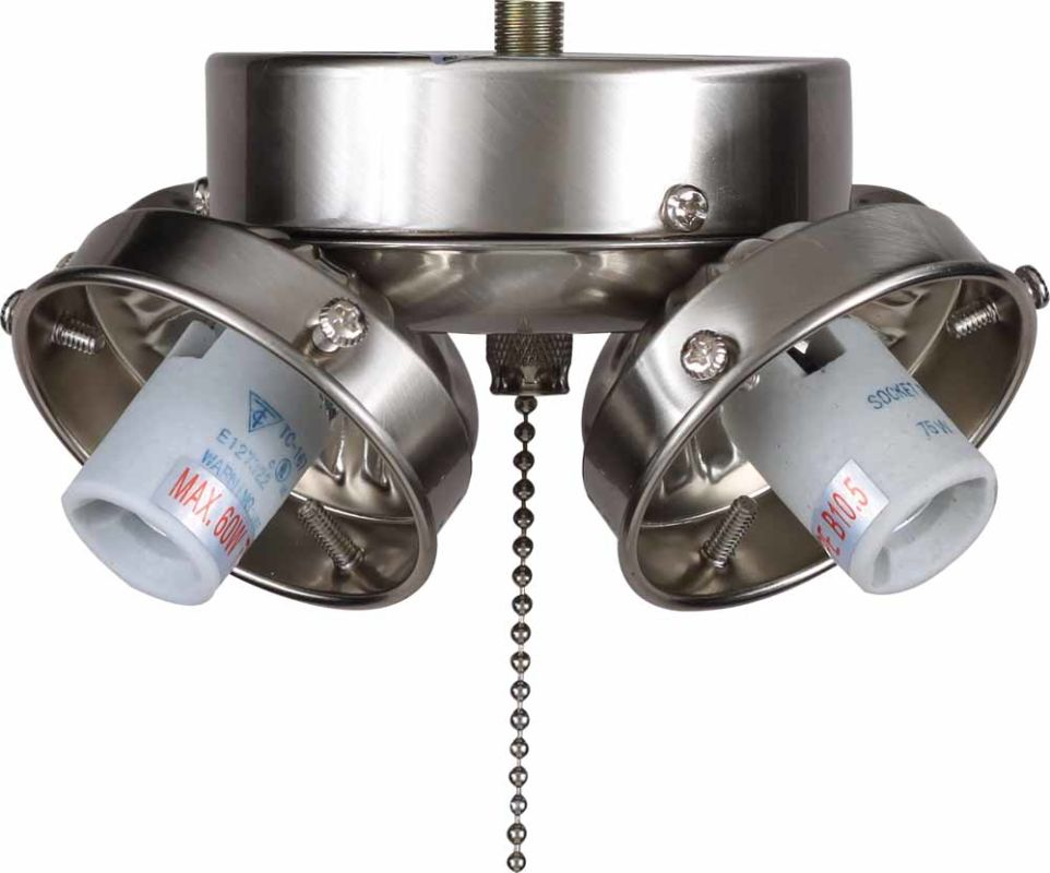 Ceiling Fan Light Bulbs Candelabra Base : Volume lighting v brushed nickel ceiling fan light