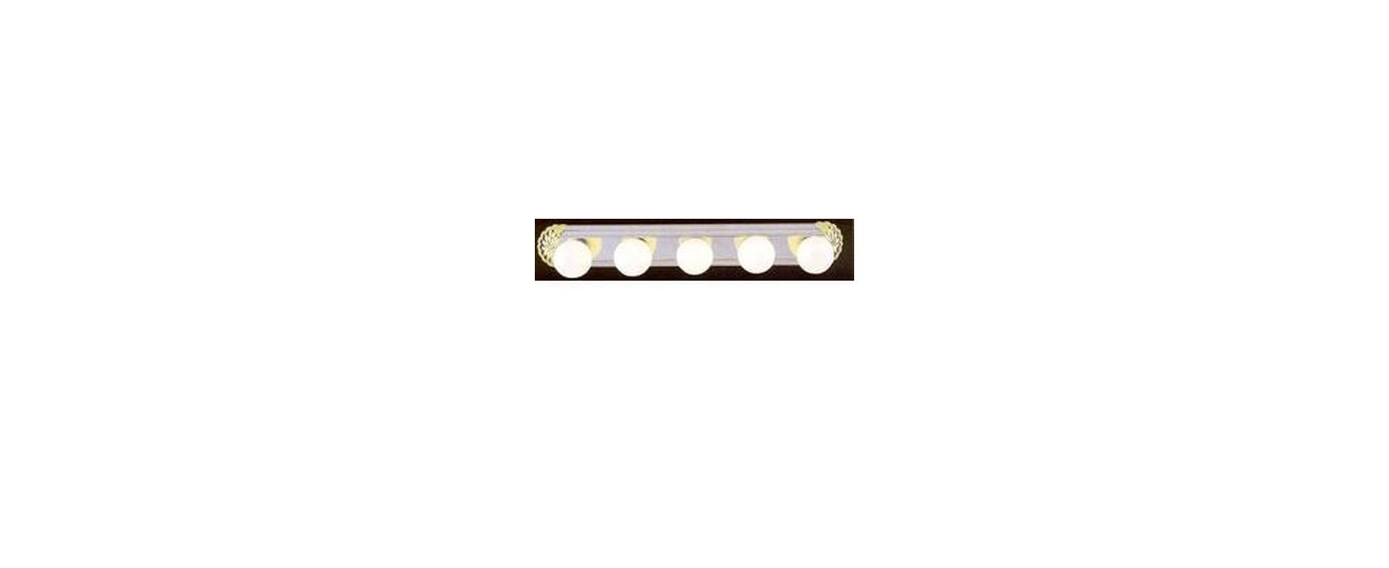 "Volume Lighting V1005 5 Light 33"" Width Bathroom Vanity Strip Polished"
