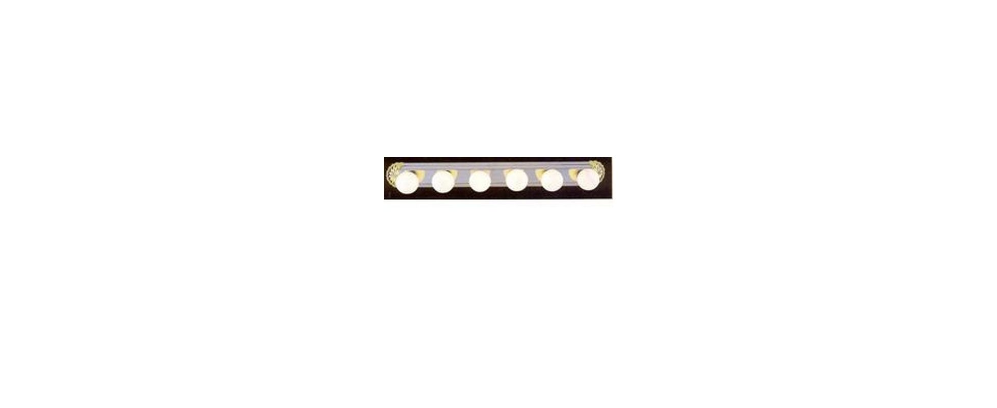 "Volume Lighting V1006 6 Light 39"" Width Bathroom Vanity Strip Polished"