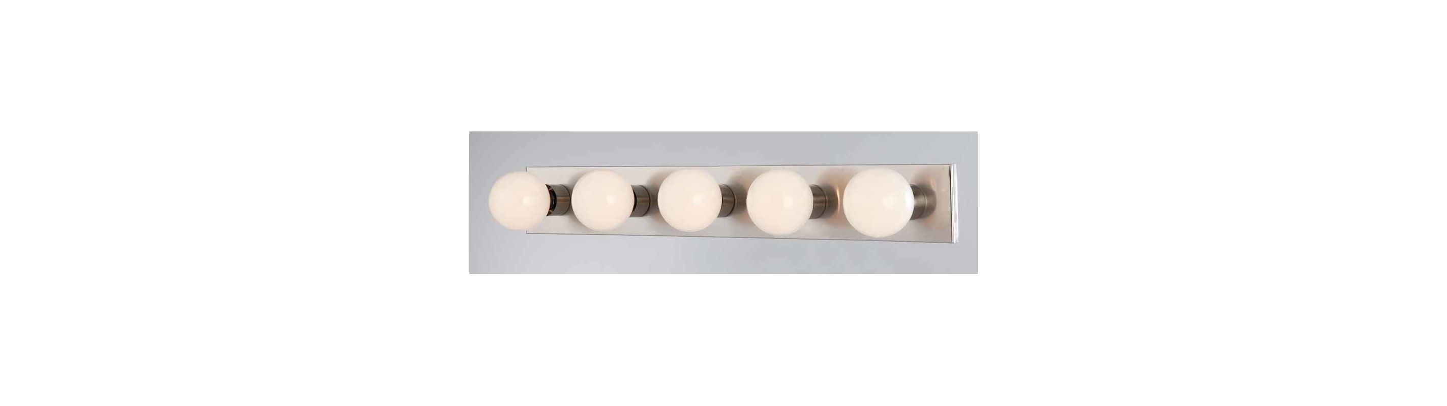 "Volume Lighting V1025 5 Light 30"" Width Bathroom Vanity Strip Brushed"