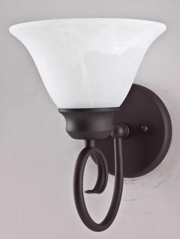 Volume Lighting V1081 Troy Wall Sconce with 1 Light and Alabaster