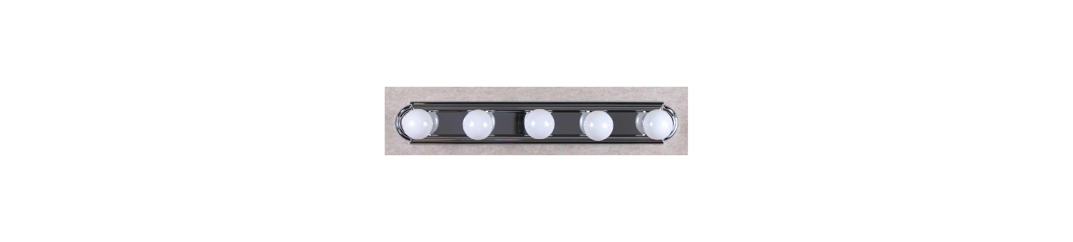 Vanity Light Strip Plug In : Volume Lighting V1125-3 Chrome 30