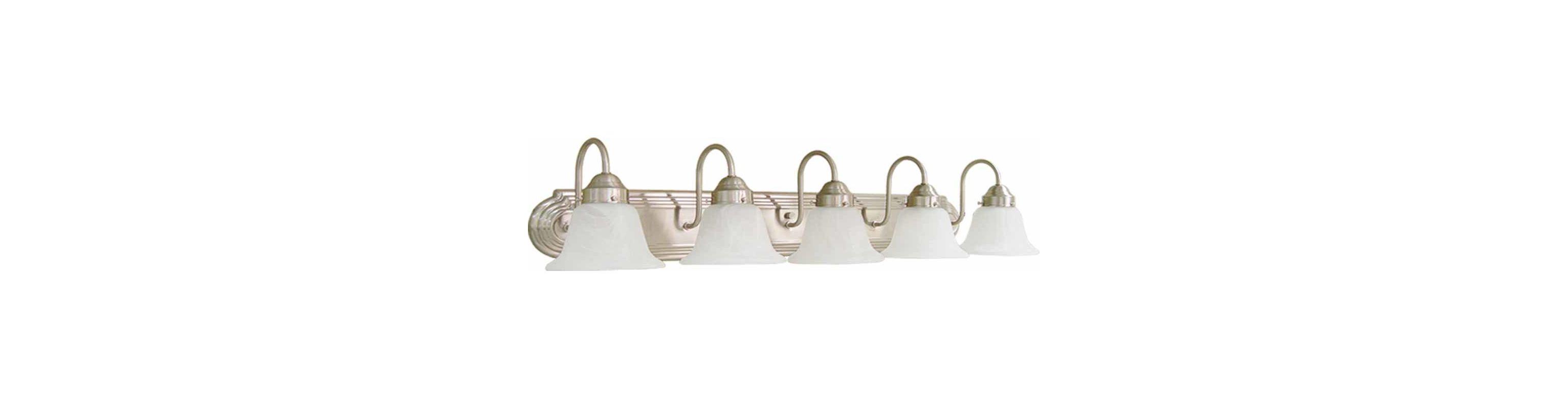 "Volume Lighting V1345 Marti 5 Light 38"" Width Bathroom Vanity Light"
