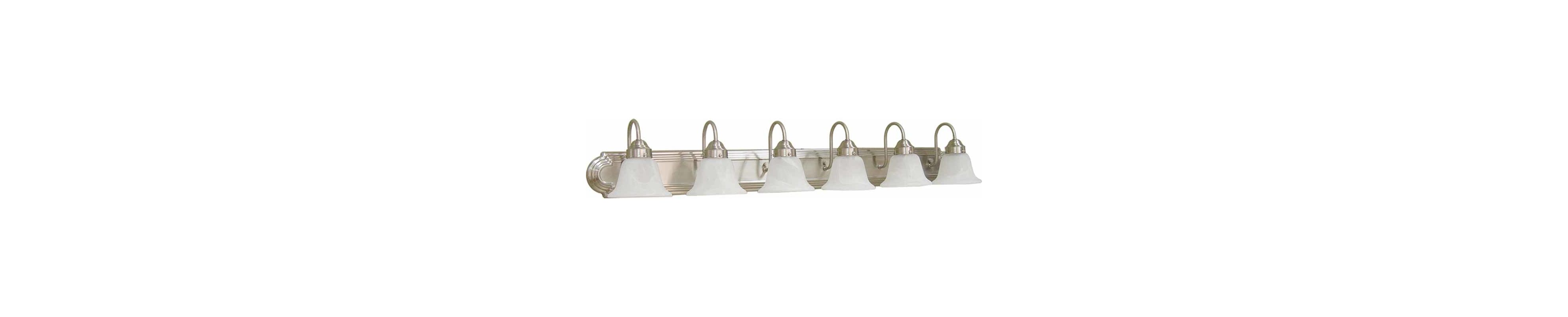 "Volume Lighting V1346 Marti 6 Light 48"" Width Bathroom Vanity Light"
