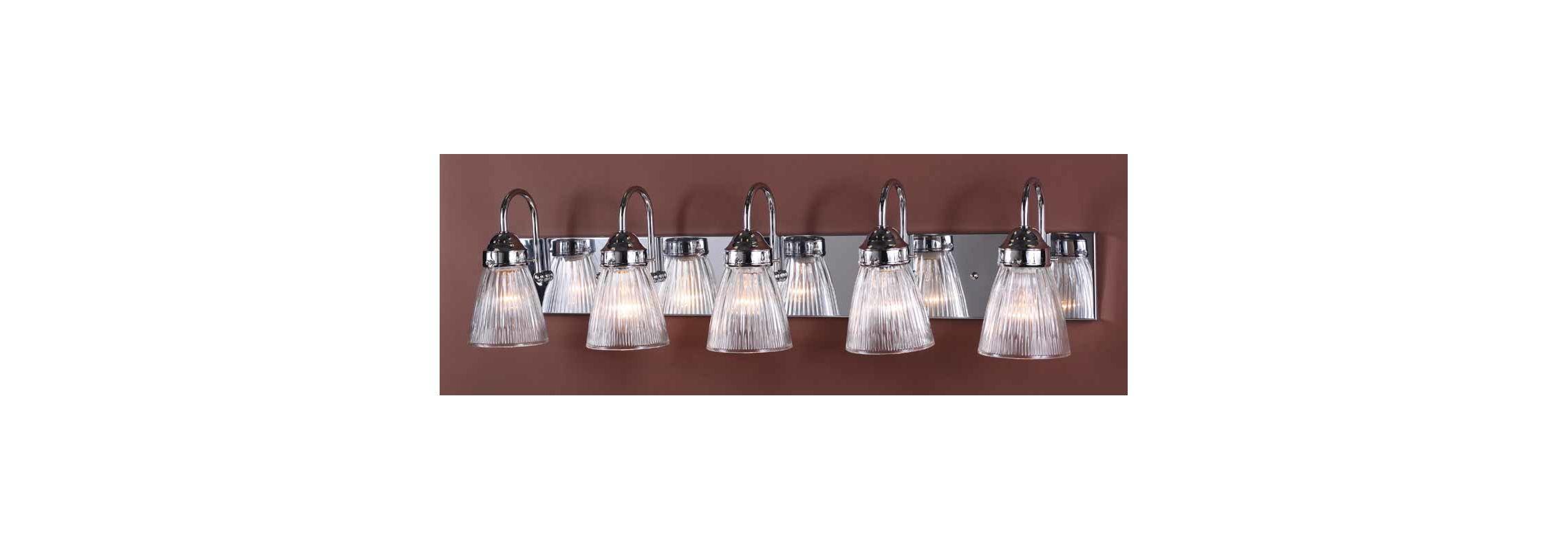 "Volume Lighting V1355 Marti 5 Light 33"" Width Bathroom Vanity Light"