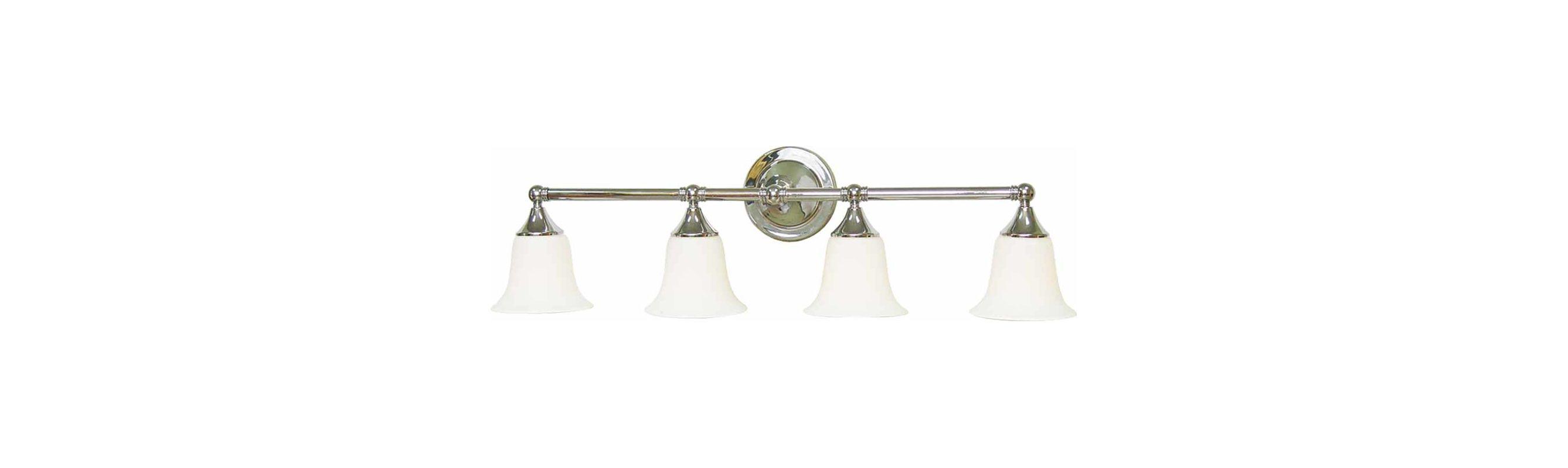 "Volume Lighting V1364 4 Light 34.5"" Width Bathroom Vanity Light with"