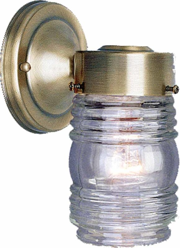 """Volume Lighting V1522 1 Light 7"""" Height Outdoor Wall Sconce with Clear"""