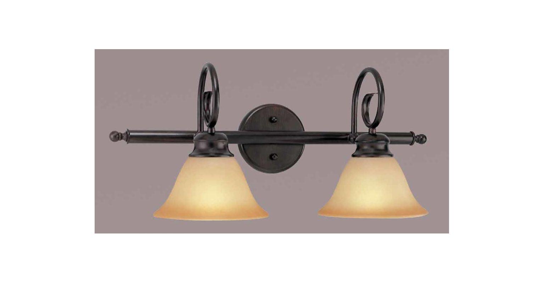 """Volume Lighting V1532 Troy 2 Light 24.5"""" Width Bathroom Vanity Light"""