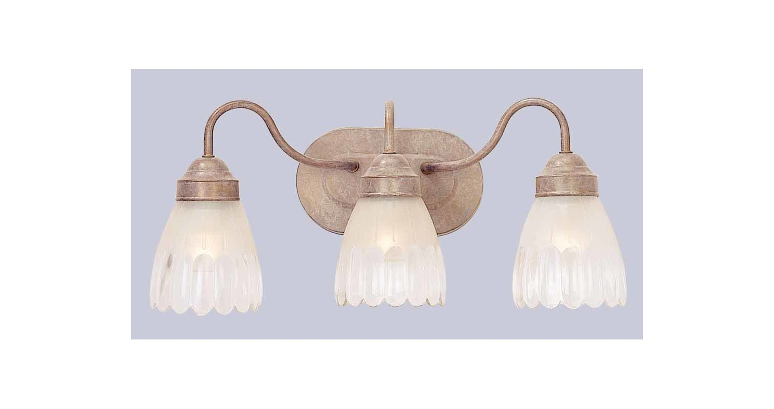 "Volume Lighting V1613 3 Light 18.5"" Width Bathroom Vanity Light with"