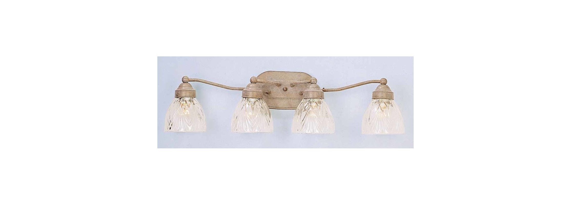 "Volume Lighting V1644 4 Light 26.25"" Width Bathroom Vanity Light"