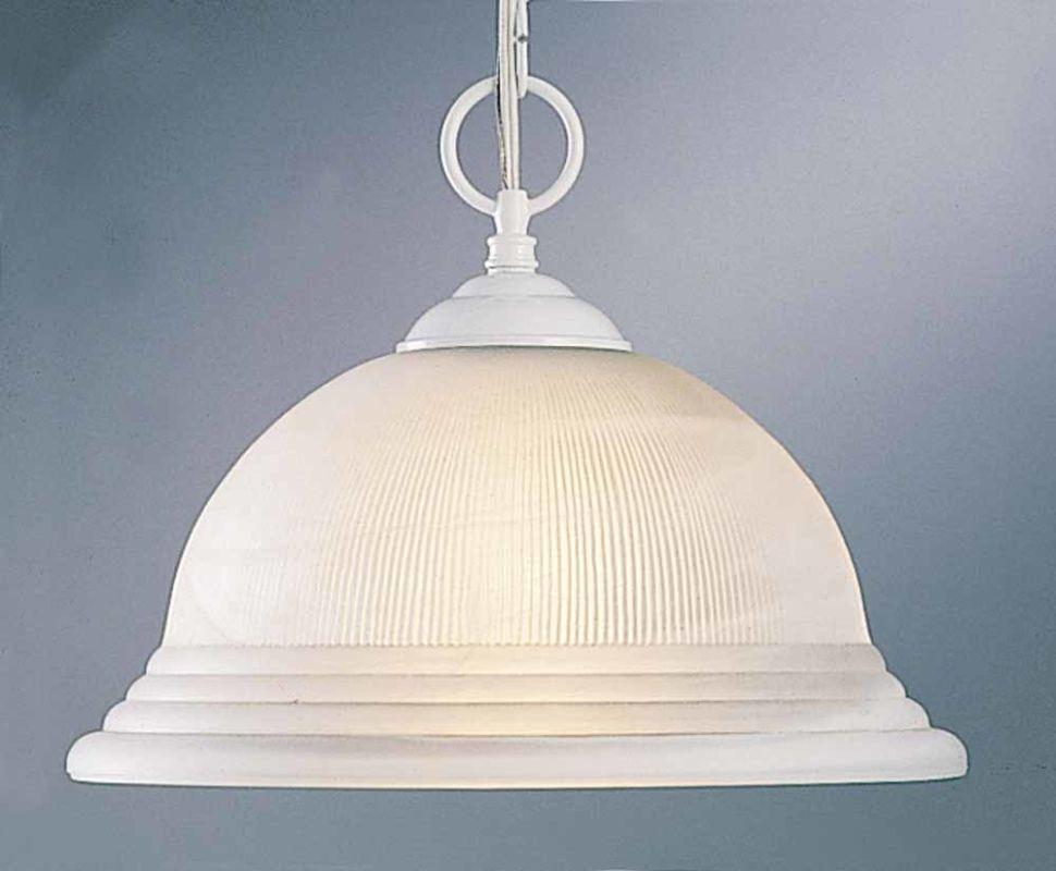 Volume Lighting V1720 1 Light Down Light Pendant with Ribbed Alabaster