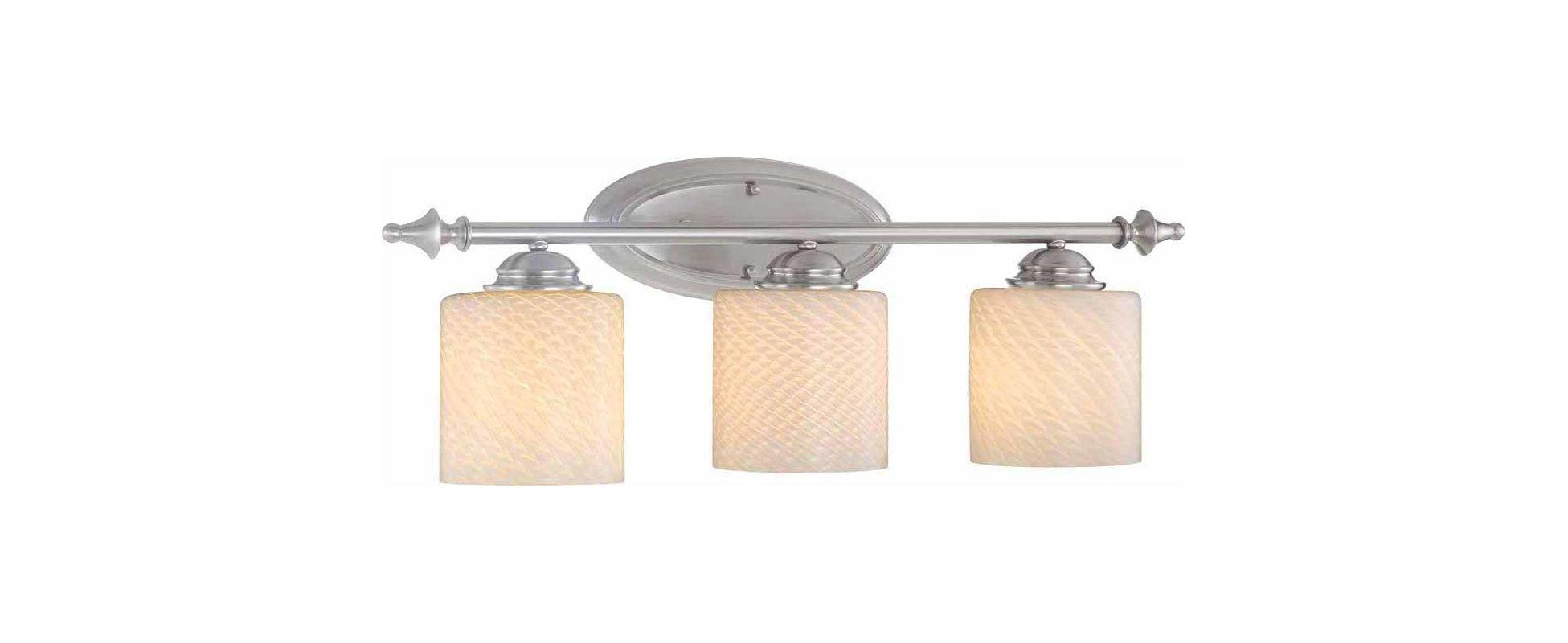 "Volume Lighting V1763 GS-521 Bernhard 3 Light 29.75"" Width Bathroom"