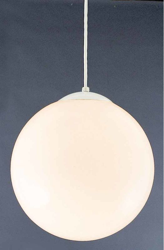 "Volume Lighting V1845 1 Light Foyer 14"" Height Pendant with Opal Glass"